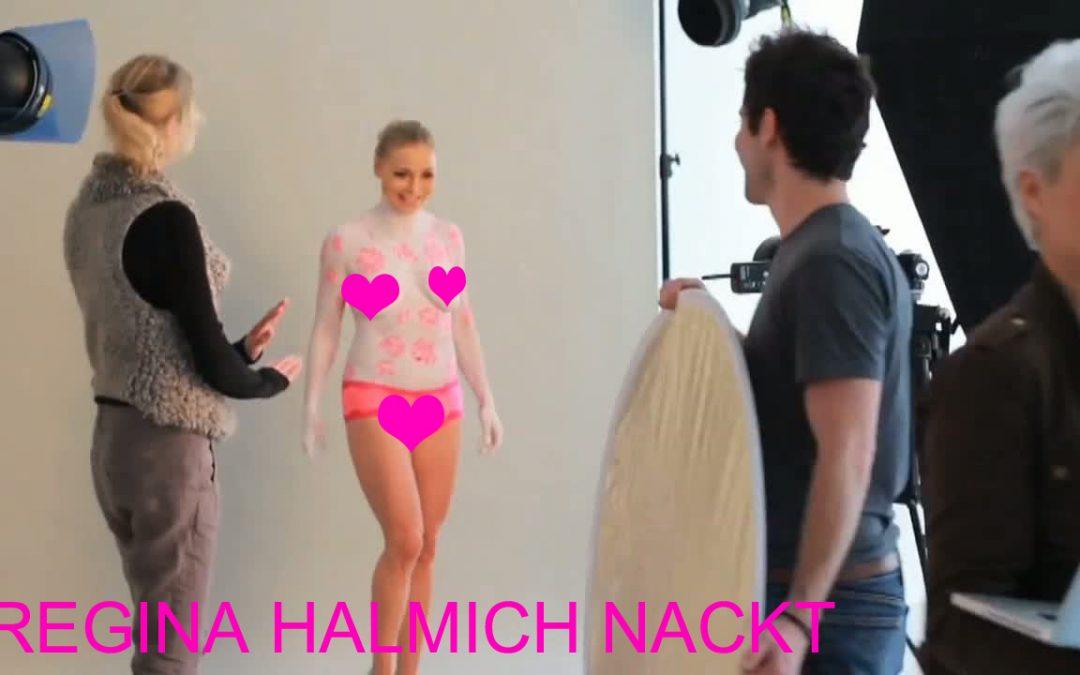 Regina Halmich nackt mit durchsichtigem Slip und Bodypainting